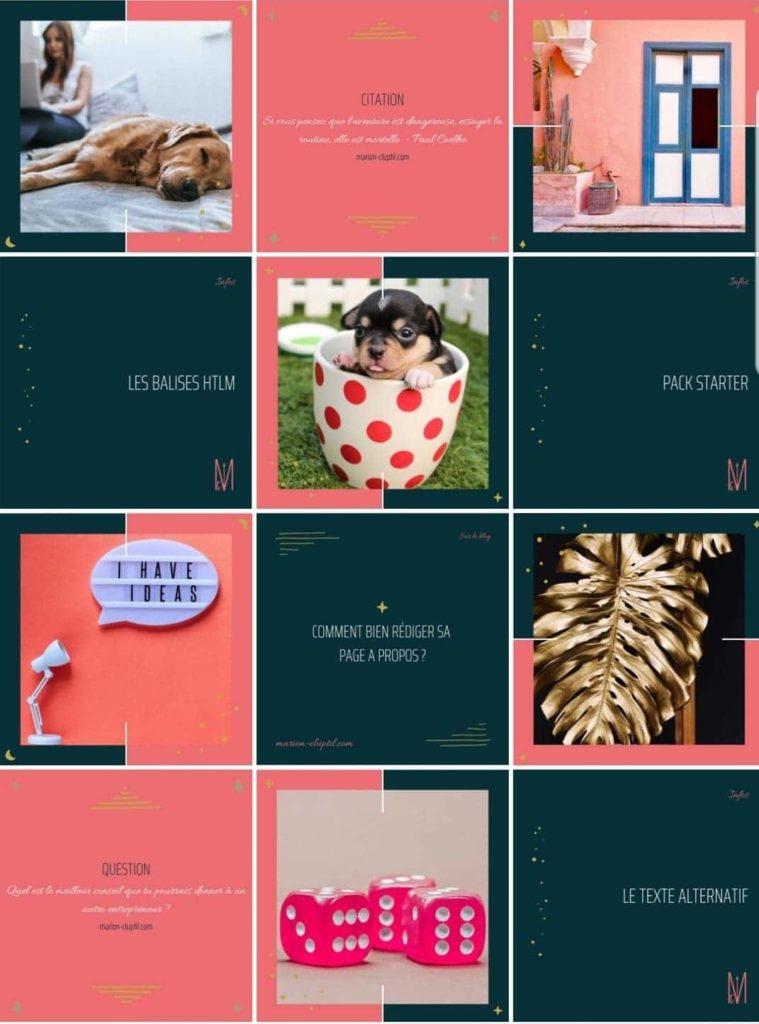 marion cluptil, feed Instagram : un calendrier éditorial permet d'avoir un feed cohérent qui séduit les abonnés